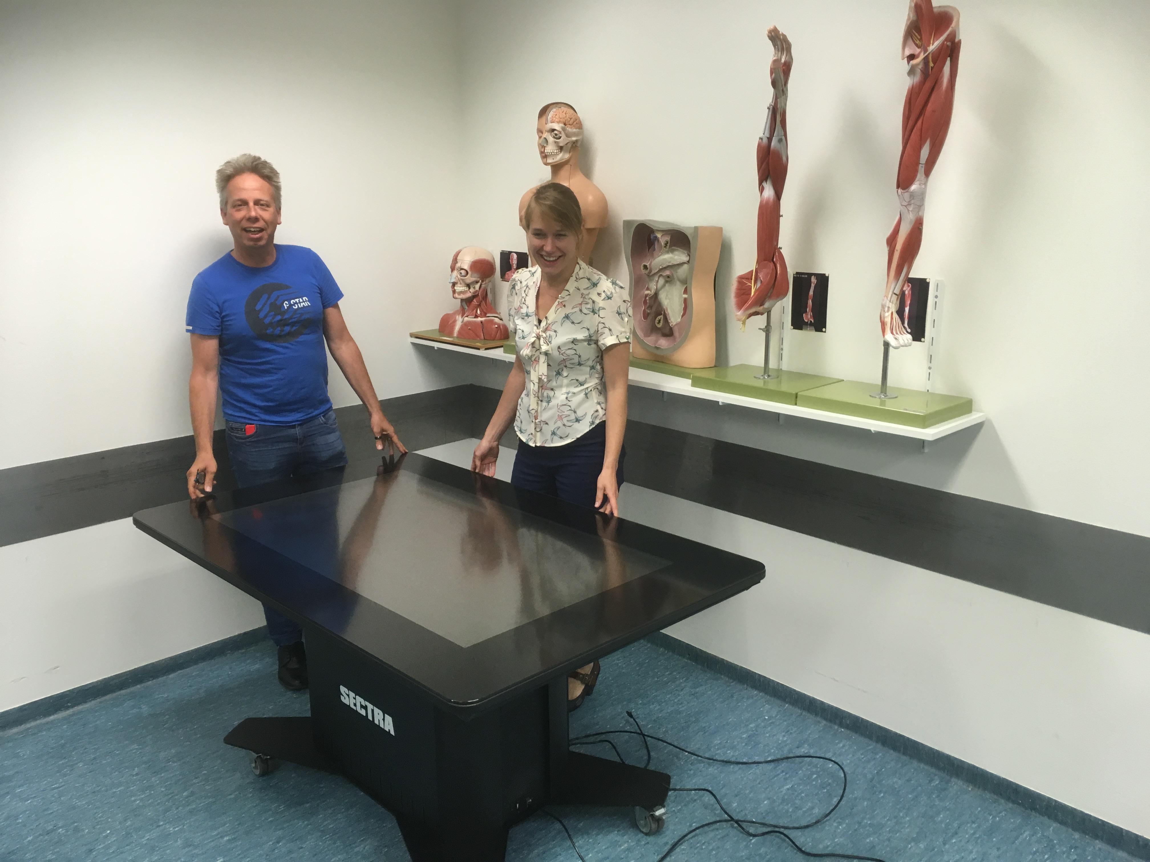 Amsterdam UMC Locatie AMC - Anatomie met een interactieve tafel